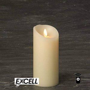 Luminara EXSL3-7 Bougie en cire véritable 7,5 x 17,5 cm de la marque Luminara image 0 produit