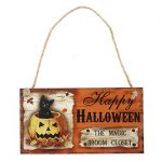 Lumineux et jeune Happy HALLOWEEN THE MAGIC BROCHET FERMETURE Rectangle Hanging Wall Sign Décoration pour la fête d'Halloween de la marque Mings image 2 produit