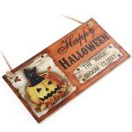 Lumineux et jeune Happy HALLOWEEN THE MAGIC BROCHET FERMETURE Rectangle Hanging Wall Sign Décoration pour la fête d'Halloween de la marque Mings image 3 produit