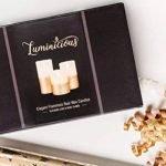 Luminicious Candles- sans flamme vacillante LED flamme. électrique à piles, télécommande et minuterie | Lot de 3bougies pilier en cire véritable (10,2cm 12,7cm 15,2cm) Idée cadeau 4_5_6 Ivory With Golden Trim de la marque Luminicious image 1 produit