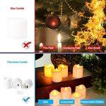 Lumiparty Bougies à LED, LED lumière sans flamme, ressemblant et brillant pour anniversaire, mariage, soirée ou Noël, Lot de 24 PCS de la marque Lumiparty image 2 produit