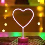 Lumière au néon à LED Signs Room Decor couleur lumineuse en forme de cœur avec support USB Night Lights à piles Table et lampes de chevet table Enseignes au néon pour la décoration domestique de la marque NaiseCore image 1 produit