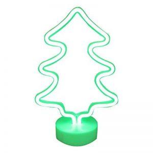 Lumière au néon à LED Signs Room Decor Couleur lumières de l'arbre de Noël avec Support USB Night Lights à Piles Table et Lampes de Chevet Table Enseignes au néon pour la décoration Domestique de la marque NaiseCore image 0 produit