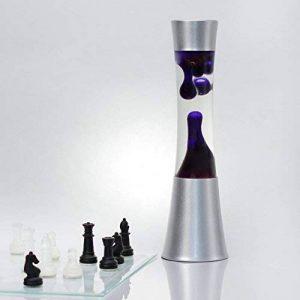 """'Lumière d'ambiance lampe à lave""""Sandro dans violet/39cm de haut avec ampoules/Câble Interrupteur/magma Lava lampe comme lumière d'ambiance de la marque Licht-Erlebnisse image 0 produit"""