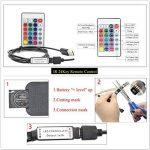Lumière de bande de LED USB RGB, 5M 30leds / m noir PCB DC 5V 5050 RGB Couleur LED Light avec télécommande 24Key pour l'éclairage de fond TV, ruban, éclairage de corde, Cuisine Led éclairage bande décorative LED Strip (non étanche) de la marque XSY image 2 produit