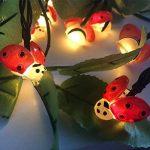 Lumière de Coccinelle, EONHUAYU Coccinelle Chaîne Lumière Coccinelle Chaîne Lumière 2 M 20LED Insectes Extérieure Chaîne Lumière Batterie Puissance pour Extérieur Jardin D'été Partie De Mariage Décoration De Noël (Blanc Chaud) de la marque EONHUAYU image 4 produit