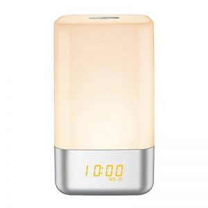 Lumière de nuit, Warkit L10Réveil lumière Réveil lever du soleil Simulation avec 5Sons naturels, contrôle tactile lampe de chevet avec 3niveaux de luminosité pour chambre à coucher, salon, chambre d'enfant de la marque Warkit image 0 produit