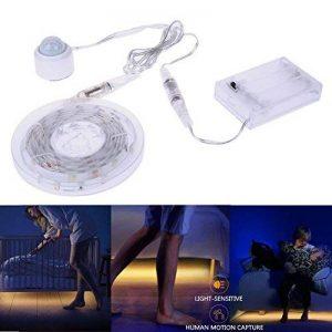 Lumière Détecteur de Mouvement, Auledio LED Sensor Strips la Lumière de Lit IP65 Ruban LED Lumière Lampe de Nuit avec Minuterie d'arrêt automatique pour Lit, Salle de Bain, Armoire, Escalier, Couloir-1.5*2M de la marque Auledio image 0 produit
