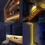 Lumière Détecteur de Mouvement, Auledio LED Sensor Strips la Lumière de Lit IP65 Ruban LED Lumière Lampe de Nuit avec Minuterie d'arrêt automatique pour Lit, Salle de Bain, Armoire, Escalier, Couloir-1.5*2M de la marque Auledio image 4 produit