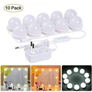 Lumière LED , Lampe à led Lumineux de miroir Lampe de maquillage 10 LED Light Hollywood Vanity ampoules kit Distance Adjustable Guirlande Lumineuses Éclairage lumière chaude avec lumière blanche de la marque JIANYIJIA image 0 produit