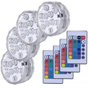 Lumière submersible de LED,Lampes sous-marines LED Éclairage Submersible Multi-couleur avec télécommande Étanche IP68 pour Piscine/Décorations//Fête Lot de 4 de la marque hitopin image 0 produit