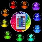 Lumière submersible de LED,Lampes sous-marines LED Éclairage Submersible Multi-couleur avec télécommande Étanche IP68 pour Piscine/Décorations//Fête Lot de 4 de la marque hitopin image 4 produit