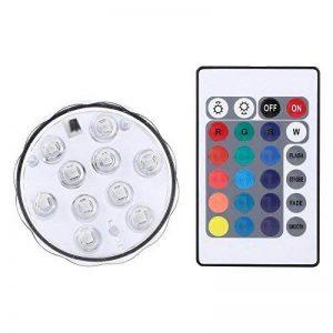 Lumière submersible LED éclairage Aquarium 10 LED RGB Multicolore Bougie LED décorative Noël avec télécommande de la marque Yosoo image 0 produit