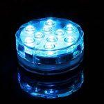 Lumière submersible LED éclairage Aquarium 10 LED RGB Multicolore Bougie LED décorative Noël avec télécommande de la marque Yosoo image 1 produit