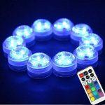 LUXJET Lot de 10 Bougies Led,RGB Submersible Imperméable LED avec télécommande Multi-Coleur/Unicolore pour mariage, Fête, Anniversaire, Piscine de la marque LUXJET image 1 produit