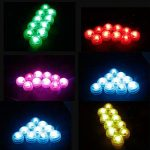LUXJET® Lot de 10 Bougies Led,RGB Submersible Imperméable LED avec télécommande Multi-Coleur/Unicolore pour mariage, Fête, Anniversaire, Piscine de la marque LUXJET image 2 produit