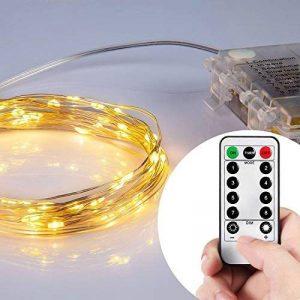 Lyhoon 16.4ft (5m) 50 LED Guirlande lumineuse à piles blanc chaud à distance & Timer IP65 étanche [Classe énergétique A+++] (blanc chaud) de la marque Lyhoon image 0 produit