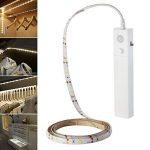 lzndeal Lampe flexible Ruban de LED avec Détecteur de Mouvement Lampe de nuit souple Lampe Autocollant pour Chambre à coucher/Cabinet Lit/Miroir/Salle de Bain/Armoire/Escalier/Couloir de la marque lzndeal image 1 produit