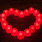 MagiDeal 24pcs Lumière De Bougie De LED Scintillant Sans Flamme Avec Télécommande - rouge de la marque non-brand image 3 produit