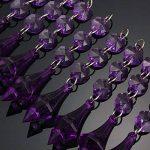 MASUNN 10 X Acrylique Perles Cristal Violet Guirlande Lustre Décoration De Mariage de la marque MASUNN image 2 produit