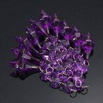 MASUNN 10 X Acrylique Perles Cristal Violet Guirlande Lustre Décoration De Mariage de la marque MASUNN image 3 produit