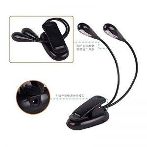 Meijunter Black Clip-On Mini Book Double Light LED Travel En train de lire Lampe pour Kobo Aura H2o eReader de la marque Meijunter image 0 produit