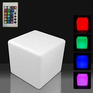 Mervy - Cube Led Lumineux Multicolore 40cm Rechargeable avec Télécommande Intérieur / Extérieur de la marque MERVY image 0 produit
