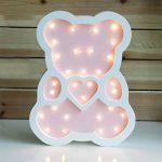 Mignon Ours LED Lampes de Nuit En Bois Marquee Lumière Inscrivez Lampes de Table Décoration Murale Filles Bébé Chambre De Mariage De Noël LED Light Sign de la marque JYSPT image 1 produit
