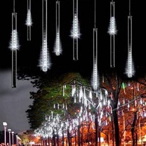 Minger 30cm 8 Tubes 144 LEDs Lumineux Etanche LED Météore Guirlandes Lumineuses Extérieur Douche Pluie Feux pour Mariage Fête Noël Soirée Maison Arbre Sapin Jardin, Blanc de la marque Minger image 0 produit