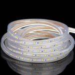 Minger 5M 220V Bande LED Strip flexible Ruban Led IP65 Etanche Blanc Chaud idéal pour Décoration Intérieure, Noël, Fête, Party, Anniversaire, Jardins etc . de la marque Minger image 2 produit