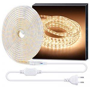 Minger 5M 220V Bande LED Strip flexible Ruban Led IP65 Etanche Blanc Chaud idéal pour Décoration Intérieure, Noël, Fête, Party, Anniversaire, Jardins etc . de la marque Minger image 0 produit