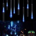 Minger Guirlandes Lumineuses 30cm 8 Tubes 144 LEDs Lumineux Etanche LED Météore Lumière Extérieur Douche Pluie Feux pour Mariage Fête Noël Soirée Maison Arbre Sapin Jardin, Bleu de la marque Minger image 1 produit