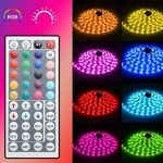 Minger Kit de Ruban à LED Etanche 5M 5050 RGB SMD Multicolore Bande LED Lumineuse avec Télécommande à Infrarouge 44 Touches et Alimentation 3A 12V de la marque Minger image 1 produit