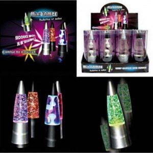 MINI LAMPE LAVE ET PAILLETTES LUMINEUSES 15 X 4.5 CM de la marque A.K TRADING image 0 produit