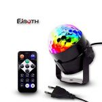 Mini Lumières de scène, EJBOTH Mini lampe magique RGB effet de scène LED tournante lampe boule de Fête Lumière LED cristal pendentif balise lumineuse + Remote Control Atmosphere Ball for Disco KTV Bar Club Christmas DJ Magic Ball de la marque EJBOTH image 4 produit