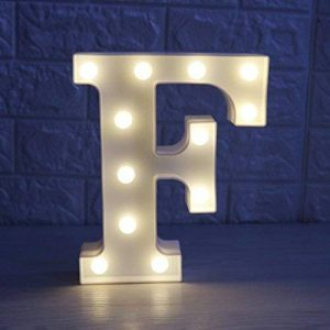 Missley Lettres solides blanches d'alphabet de la lettre LED de Missley LED solides pour la décoration de mariage de partie (F) de la marque Missley image 0 produit
