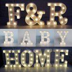 Missley Lettres solides blanches d'alphabet de la lettre LED de Missley LED solides pour la décoration de mariage de partie (F) de la marque Missley image 4 produit
