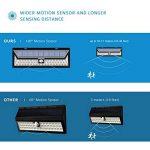 Mpow 54 LED Lampe solaire extérieure étanche IP65 sans fil 800 lumens Luminaire exterieur/ Spot exterieur 120° Grand Angle reglable avec détecteur de mouvement et Paneau Solaire pour Pati, jardin, cour, chemin,escaliers, cloture de la marque Mpow image 4 produit