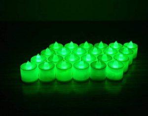 MuLucky 24pcs Bougies LED Chauffe-Plat Batterie fonctionnant lumière Flameless Photophore Bougies chauffe-plat de lumière LED pour mariage, anniversaire, Noël Fête Décoration (Vert) de la marque MuLucky image 0 produit