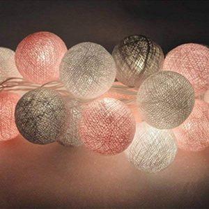 mymotto LED Fée Lumières Boules 3m 22s Coton Balles Batterie/USB / Plug Noël Célébration Jardin Terrasse Chambre Déco… de la marque mymotto image 0 produit