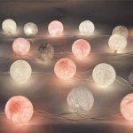 mymotto LED Fée Lumières Boules 3m 22s Coton Balles Batterie/USB / Plug Noël Célébration Jardin Terrasse Chambre Déco… de la marque mymotto image 3 produit