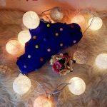 mymotto LED Fée Lumières Boules 3m 22s Coton Balles Batterie/USB / Plug Noël Célébration Jardin Terrasse Chambre Déco… de la marque mymotto image 4 produit