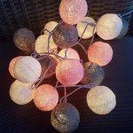 mymotto LED Fée Lumières Boules 3m 22s Coton Balles Batterie/USB / Plug Noël Célébration Jardin Terrasse Chambre Déco… de la marque mymotto image 2 produit