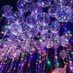 Mystery&Melody 10 pcs LED Bobo Ballon Lumières Réutilisable Les lampes Décorations pour Festival Anniversaire Fête Lumineux 18 pouces Guirlandes (Balloons 10PCS) (Balloons 10PCS) (Balloons 10PCS) de la marque Mystery&Melody image 1 produit