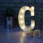 Mystery&Melody LED Lettre Lumière Lampe Lampe Décorative LED Lettres de l'Alphabet pour la Fête de la Décoration de Mariage Lumière (C) de la marque Mystery&Melody image 3 produit