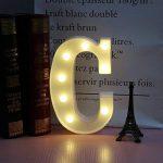 Mystery&Melody LED Lettre Lumière Lampe Lampe Décorative LED Lettres de l'Alphabet pour la Fête de la Décoration de Mariage Lumière (C) de la marque Mystery&Melody image 1 produit