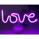 NaiseCore Lumière au néon à LED Signs Room Decor Couleur Love Lettres lumières avec Support USB Night Lights à Piles Table et Lampes de Chevet Table Enseignes au néon pour la décoration Domestique de la marque NaiseCore image 2 produit