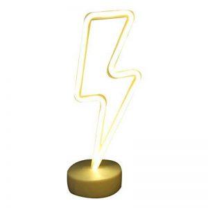 NaiseCore Lumières au néon à LED Sign Room Decor Lampes à Couleurs avec Support USB Night Lights à Piles Table et Lampes de Chevet Table Enseignes au néon pour la décoration Domestique de la marque NaiseCore image 0 produit