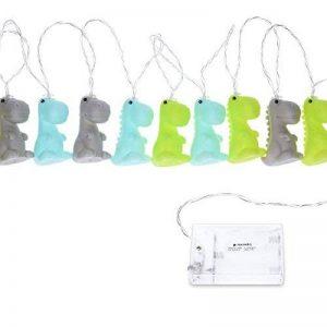 Navaris guirlande LED design dinosaure - Fil 2 m - Veilleuse mignonne pour enfants - Décoration chambre enfant bébé - Éclairage blanc chaud - vert de la marque Navaris image 0 produit