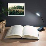 Navaris Lampe de lecture LED - Lampe à pince rechargeable via câble micro USB - Liseuse pour chevet bureau lit - Flexible et lumière réglable de la marque Navaris image 4 produit